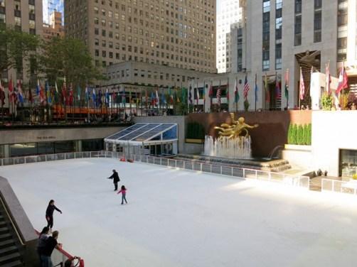 U.S.A. - New York City - Lower Plaza of Rockefeller Center
