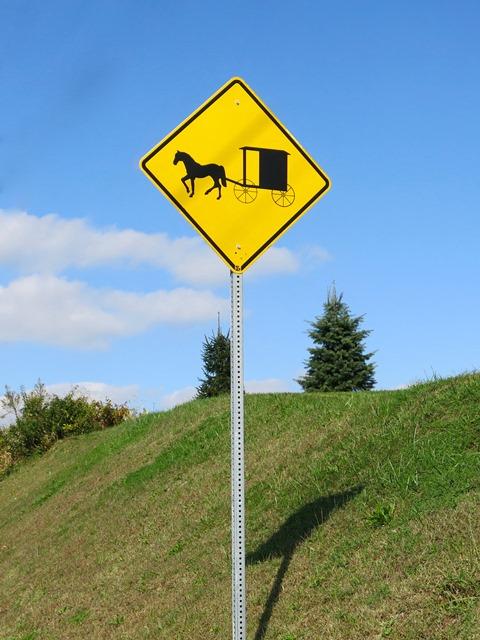 U.S.A. - Pennsylvania - Amish - Segnali stradali