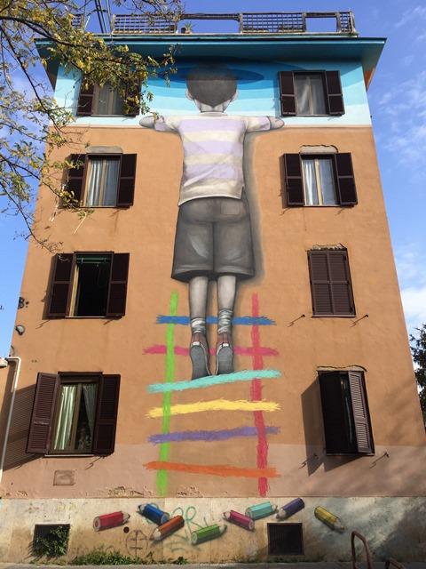 Arte Urbana (Street Art) - Tor Marancia: Seth - Il Bambino Redentore