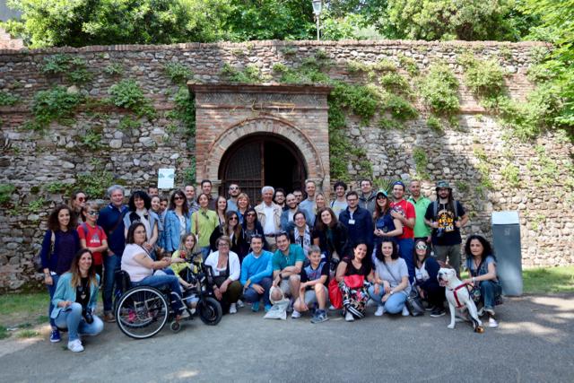 I partecipanti a Santarcangelo di Romagna
