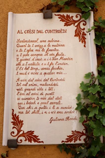 visitare Santarcangelo di Romagna poetessa Giuliana Rocchi