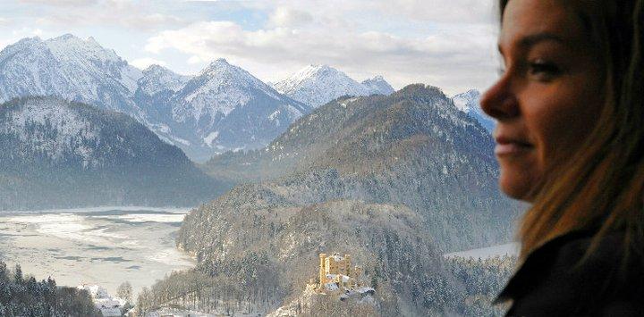Panorama dal castello di Neuschwanstein verso Hohenschwangau