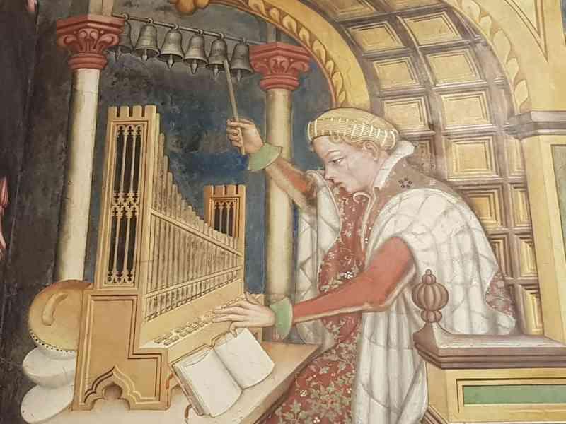 Gentile da Fabriano, Sala delle Arti Liberali e dei Pianeti, dettaglio della Musica