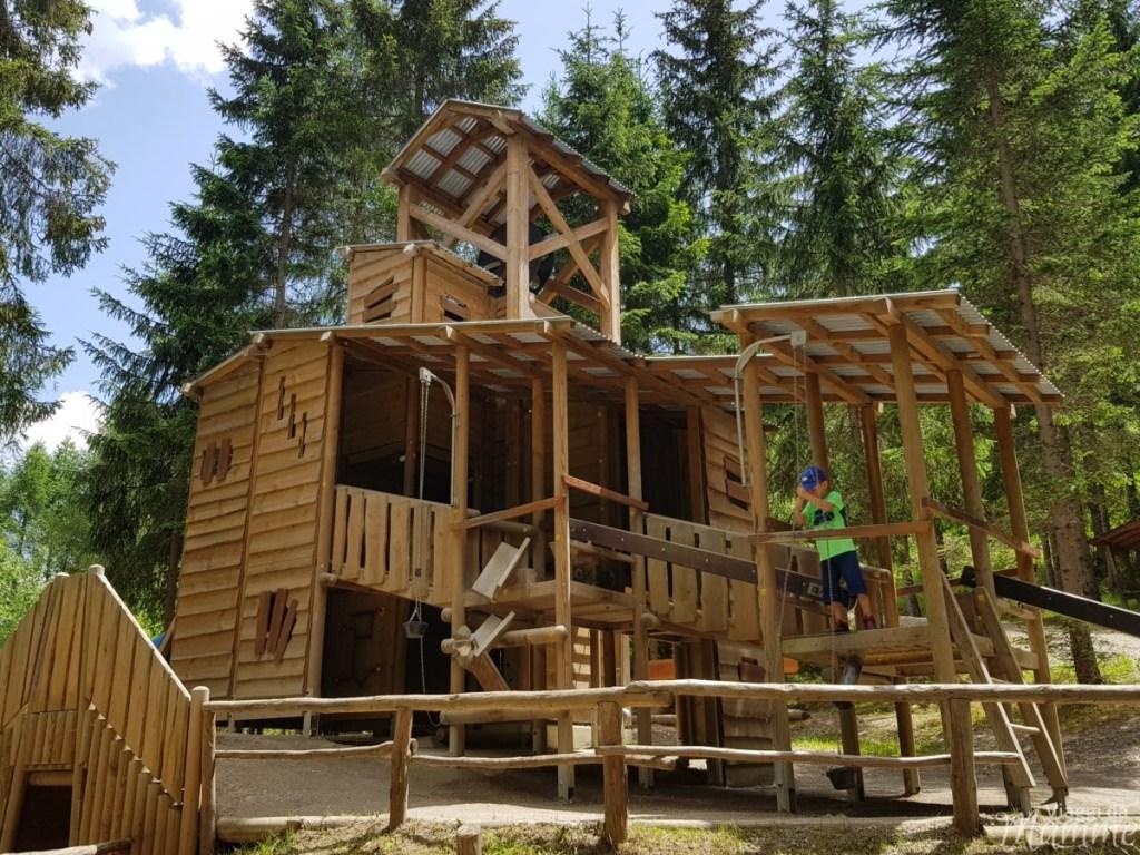 Alta Val Pusteria con bambini cosa fare e cosa vedere -Parco Avventura Wichtlpark-