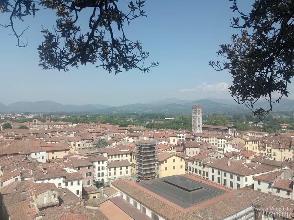 Cosa visitare a Lucca in un giorno con bambini -panorama dalle mura-