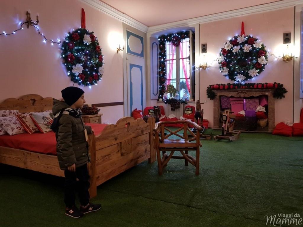 La camera da letto di Babbo Natale a Palazzo Ginami, Gromo