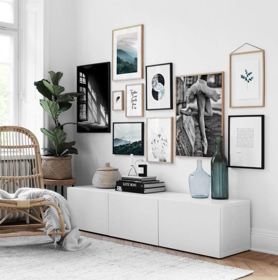 Come appendere i quadri in modo originale -foto fonte Pinterest-