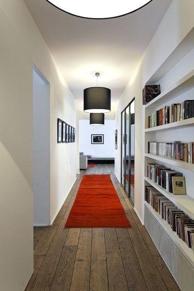 Ingresso parete libreria in cartongesso