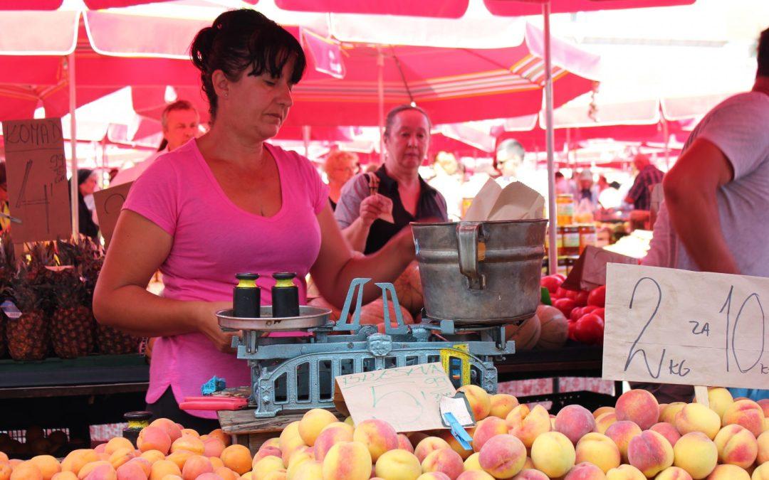 Il mercato di Dolac a Zagabria