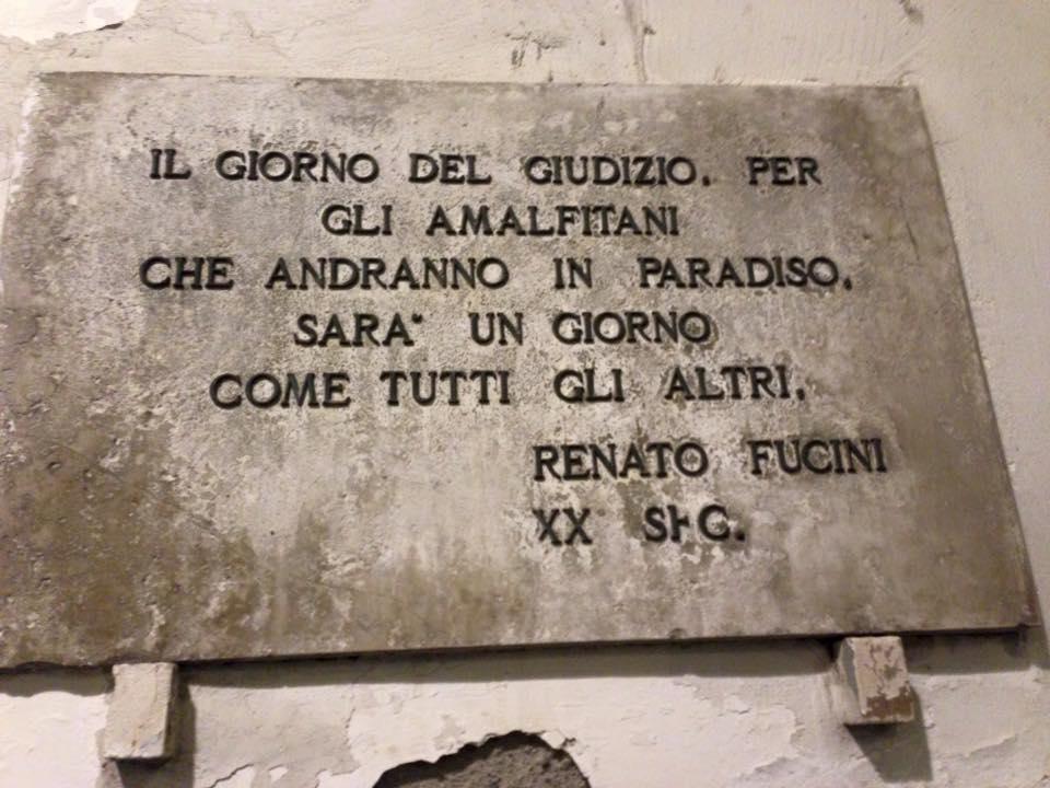 Targa Amalfi Renato Fucini