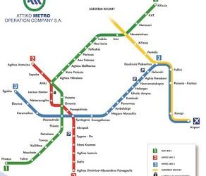 Mappa e costi della metro di Atene