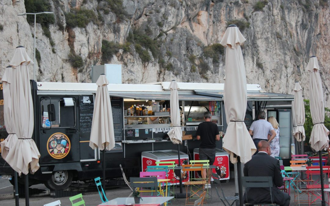 Food'Eze, street food on the Corniche with the panorama of the French Riviera