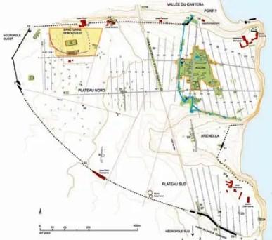 Planimetria della città antica