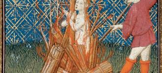 La condanna al rogo delle eretiche di Reims