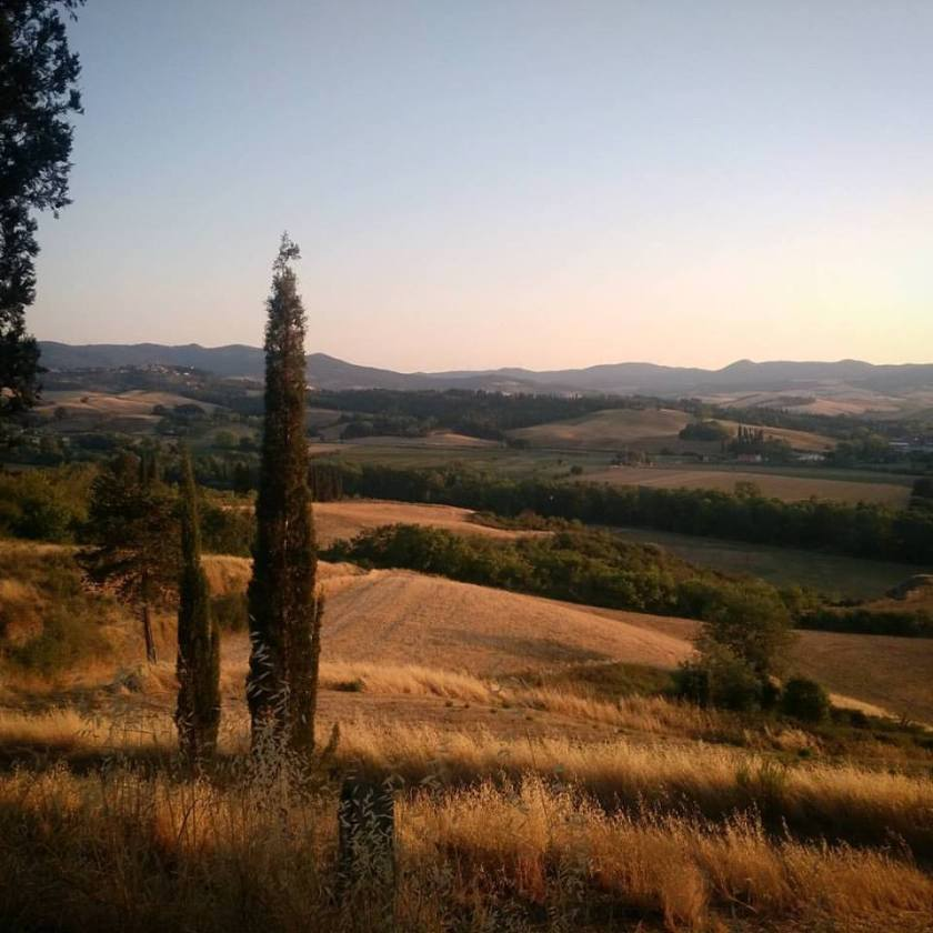 vista su colline toscane