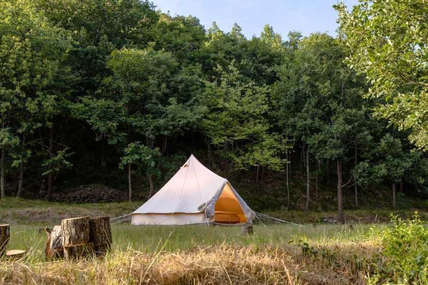 glamping tenda sul fiume