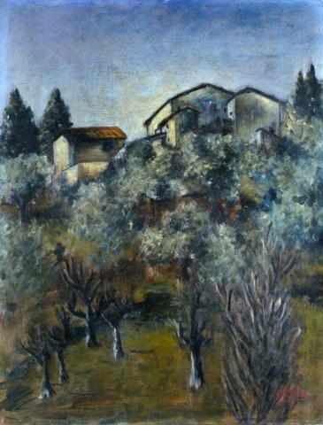 Ottone Rosai, Paesaggio, 1922, olio su tela, cm 100 x 135, Fondazione Cariplo