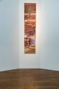 Papeles (Fogli), 2003-2018 3 fogli, carta Fabriano dipinta con l'acqua usata per lavare i corpi dopo l'autopsia 70x50 cm cad