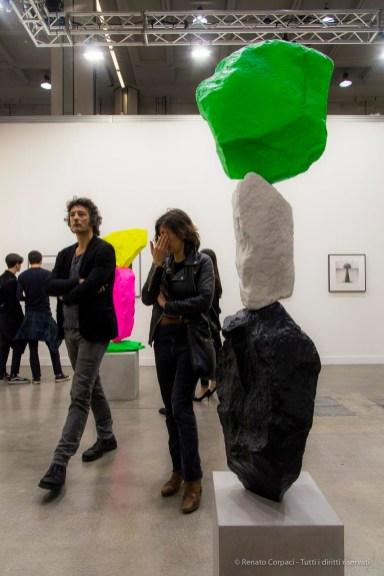Ugo Rondinone, Three vertical Installations Barbara Gladstone Gallery. MiArt 2018