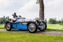"""Bruno Roma and Primo Ider (I) on BNC 527 Gran Sport (1927). Parco Giardino Sigurtà, Valeggio-sul-Mincio, maggio 2018. Nikon D810, 24 mm (24 mm ƒ/1.4) 1/100"""" ƒ/6.3 ISO 64"""