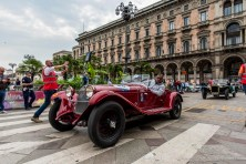 "Riccardo Perletti and Ezio Perletti on Alfa Romeo 6C1750 Gran Sport (1930). Piazza Duomo, Milano, May 2018. Nikon D810, 20 mm (20 mm ƒ/1.8) 1/160"" ƒ/8 ISO 140"