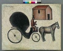 Carlo Carrà (Quargnento (AL), 1881 - Milano, 1966) La carrozzella, 1916 olio su tela applicata su compensato, cm 51,5 x 66,5 MART 969, VAF 0717 Mart, Museo di arte moderna e contemporanea di Trento e Rovereto Collezione VAF-Stiftung