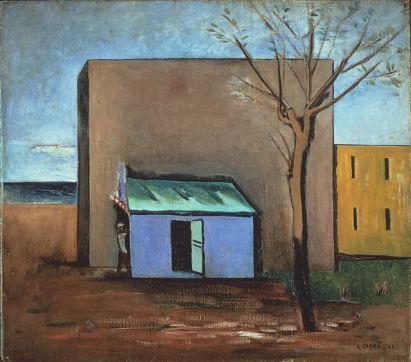 Carlo Carrà Il bersaglio Olio su tela, cm 75 x 85 Collezione privata