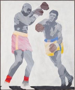 Konrad Lueg, Cassius Clay 1964. Caseina su tela. 120 x 100 cm. © 2018 Prolitteris, Zurich