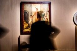 Anonimo, Affresco raffigurante Teseo liberatore (45-79 d.C.). Intonaco dipinto; 109 x 100 x 8 cm; inv. 9043. Napoli, Museo Archeologico Nazionale di Napoli