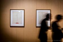 Da sx: Pablo Picasso, Nudo stante (28 giugno 1946). Matite colorate su carta velina da disegno Arches; 65,5 x 50,5 cm; inv. MP1357 Paris, Musée National Picasso; Pablo Picasso, Nudo stante (28 giugno 1946). Matite colorate su carta velina da disegno Arches; 65,5 x 50,5 cm; inv. MP1359 Paris, Musée National Picasso