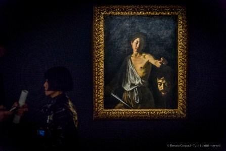 Caravaggio, David con la testa di Golia,1609-10. Olio su tela, 125 x 101cm. © Ministero per i Beni e le Attività culturali – Galleria Borghese