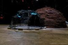 Mario Mertz, Chiaro scuro / oscuro chiaro, 1983. Installation view Pirelli HangarBicocca. Mart - Museo di Arte Moderna e Contemporanea di Trento e Rovereto. Photo: © Renato Corpaci
