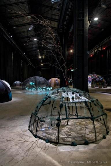 Mario Merz, Acqua scivola, 1969. Installation view, GNAM - Galleria nazionale d'arte moderna e contemporanea, Rome, 2017. Courtesy Fondazione Merz, Turin. Photo: © Renato Corpaci
