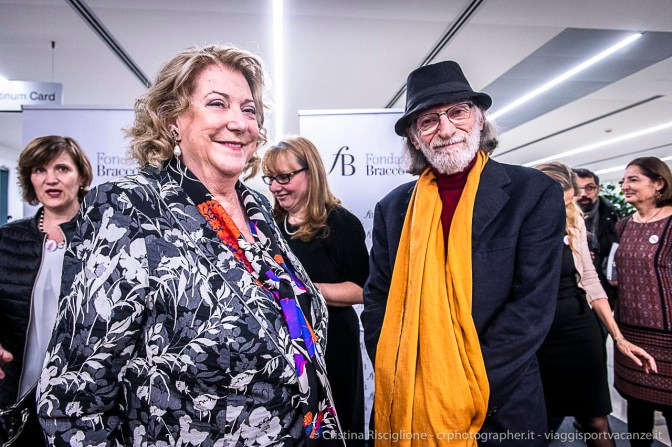 Diana Bracco e Gerard Bruneau. Milano, gennaio 2019