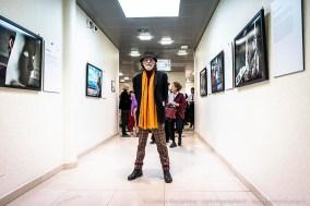 """Gerald Bruneau all'inaugurazione della mostra Una vita da scienziata – I volti del progetto #100esperte"""" . Milano, gennaio 2019"""
