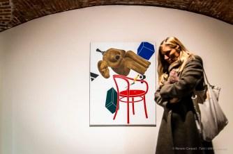 Emilio Tadini, Archeologia con de Chirico, 1972 acrilici su tela acrylics on canvas 146 x 114 cm
