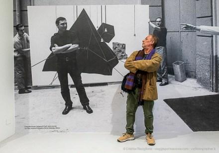 Francesco Tadini, figlio dell'artista alla serata inaugurale della mostra.