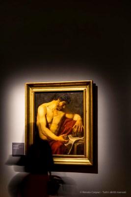 Anne-Louis Girodet, Homme méditant sur la mort 1786 olio su tela 96 80 cm. Musée des beauxarts, Carcassone - PROPRIETA' LOUVRE