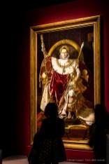 Jean-Auguste-Dominique Ingres, Napoléon Ier sur le trône impérial 1806 260x163 cm. Musée de l'armée Invalides, Parigi