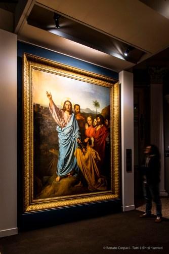 Jean-Auguste-Dominique Ingres, Jésus remettant à saint Pierre les clés du paradis 1820 huile sur toile 280 217 cm. Musée Ingres, Montauban (proprietà Louvre)