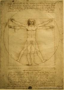 Leonardo da Vinci, Homo vitruviano 1490 c.ca. 34x24 cm. Venezia, Galleria dell'Accademia