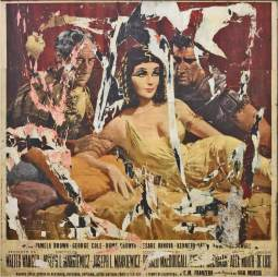 Mimmo Rotella, Cleopatra Liz_1963. Décollage su tela cm 132 x 135 ph. Bruno Bani