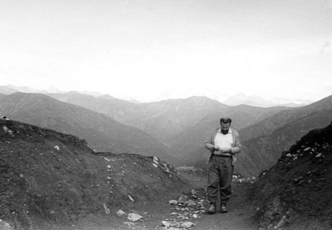 Rodolfo Mazzeranghi, Bocchetto Margosio, il Monte Rosa sullo sfondo, 1952, fotografia