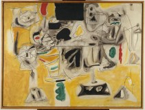 ARSHILE GORKY, Landscape-Table, 1945. Oil on canvas, 92 x 121 cm Paris, Centre Pompidou, Musée national d'art moderne. Centre de création industrielle