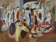 ARSHILE GORKY, The Liver is the Cock's Comb, 1944. Oil on canvas, 186.1 x 249.9 cm. Buffalo, New York, Collection Albright-Knox Art Gallery