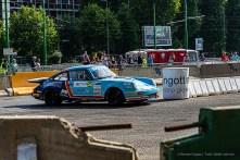 Beniamino Lo Presti e Fabrizio Sala su Porsche 911 SC a San Siro, durante le prove speciali