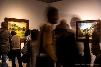 Paul Gauguin Haere Mai, 1891; Vincent Van Gogh, Montagnes à Saint-Rémy, 1889