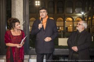 PierCarla Delpiano per le Stelline e l'onorevole Emanuele Fiano per la Permanente e Alfredo Mazzotta in rappresentanza degli artisti.