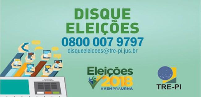 Disque Eleições 2018 é um projeto do TRE-PI e visa aproximar o eleitor da Justiça Federal.