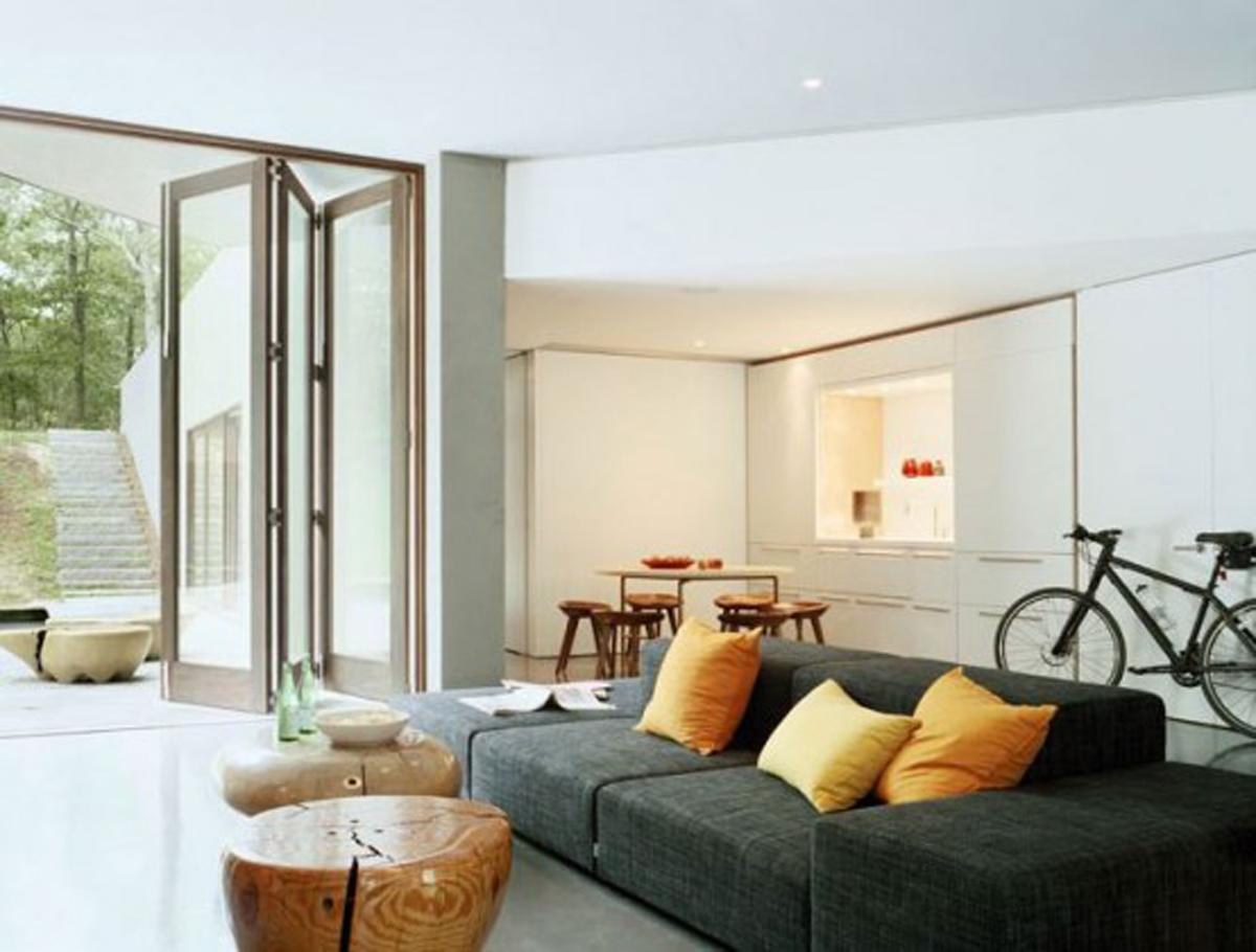 A Richard Meier Architecture Simple Cube House Terrace